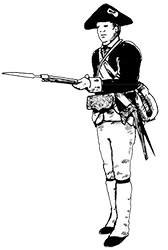 ">Capt. Abraham Kellar' s Co'y, Illinois Rgt"" /></p><h2>Capt. Abraham Kellar' s Co'y, Illinois Rgt. Virginia State Forces – January, 1780</h2><p>Kellar' s company wears short, blue coats faced white, white small clothes, and black cocked hats. Note the tri-colored alliance cockade – black for the Continental Congress, white for France, and red for Spain. Kellar' s carry a variety of arms and accouterments, some of Spanish origins. Kellar' s Company saw service at Vincennes and the company was garrisoned there through the winter of 1779-1780. Abraham Kellar resigned his commission in 1781.<br />  	<!-- shortcode box --> <div class="